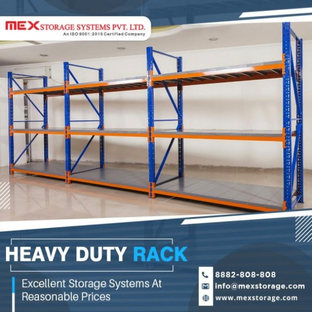 Heavy Duty Rack Manufacturers | Warehouse Rack Manufacturers - MEX Storage Systems Pvt. Ltd.