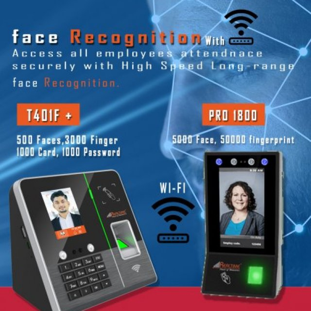 Realtimebiometric -  biometric attendance machine Face Recognition attendance machine   Door Lock Access Control Systems